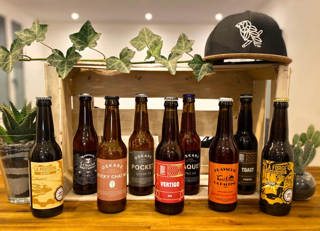 Neuf bières artisanales