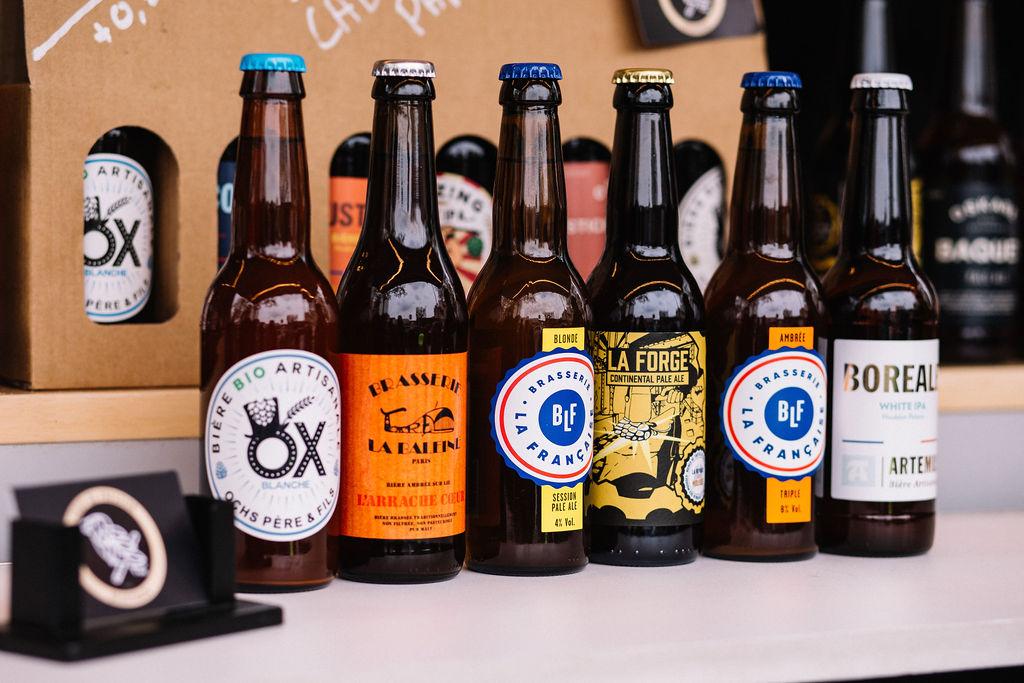 Six bières artisanales